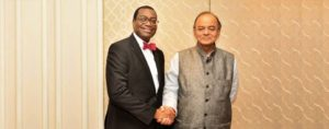 President Adesina with Finance Minister Arun Jaitley