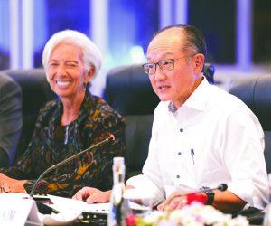 World Bank President Jim Yong Kim  and IMF Managing Director, Christine Largade